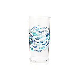 School of Fish Acrylic Drink Glass