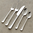 Scoop 20-Piece Flatware Set: four 5-piece place settings.