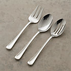 Scoop 3-Piece Serving Set: serving fork, pierced serving spoon and serving spoon.