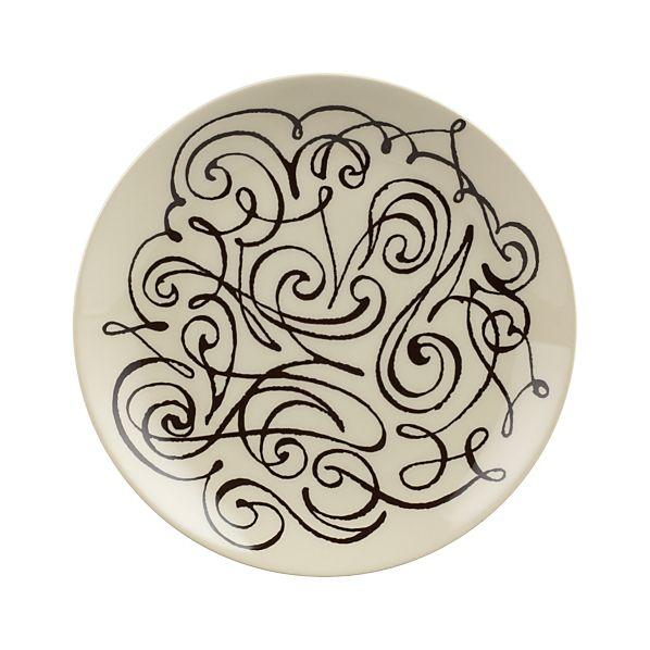 "Scroll 8.5"" Plate"