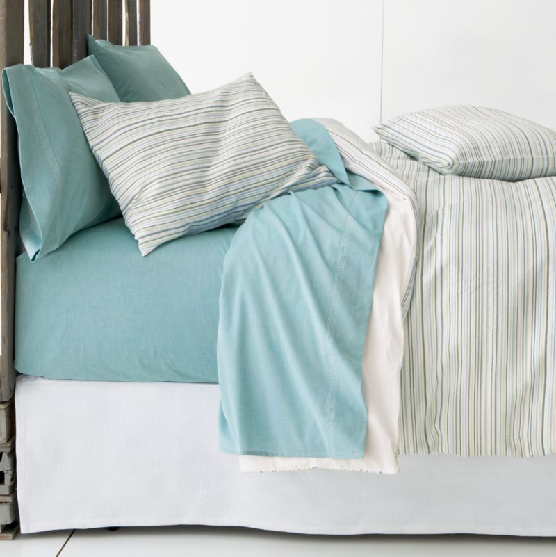 Chambray Blue Sheet Sets