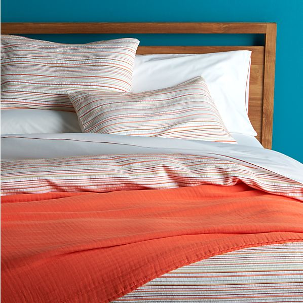 Seaside Coral Duvet Covers and Pillow Shams
