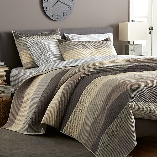 Sedona Grey Quilts and Pillow Shams