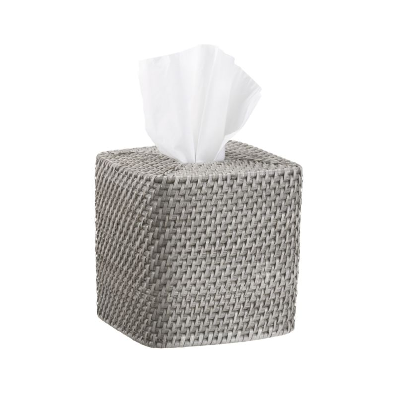 Sedona Grey Square Tissue Box