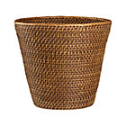 Sedona Honey Tapered Waste Basket/Trash Can.
