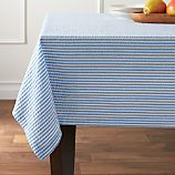 "Seersucker Blue 60""x90"" Tablecloth"