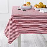 Seersucker Red Tablecloth