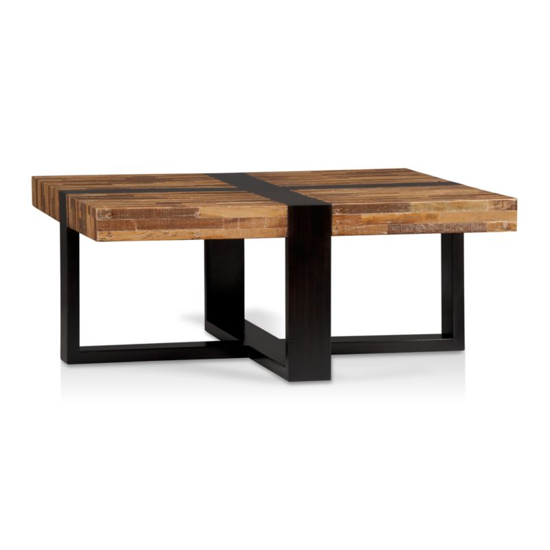 Seguro Square Coffee Table In Coffee Tables Side Tables Crate And Barrel