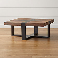 Reclaimed Wood Top Stainless Steel Base 72x42 Parsons Dining Table In Dining Tables Crate And