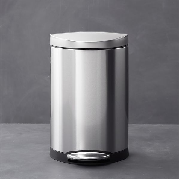 Simplehuman 174 2 6 Gallon Semi Round Trash Can Crate And