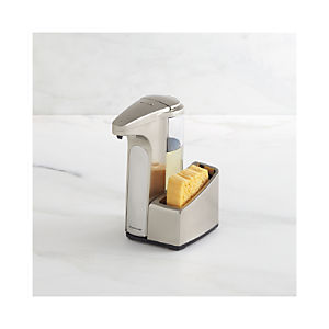simplehuman® Sensor Soap Pump with Stainless Steel Caddy