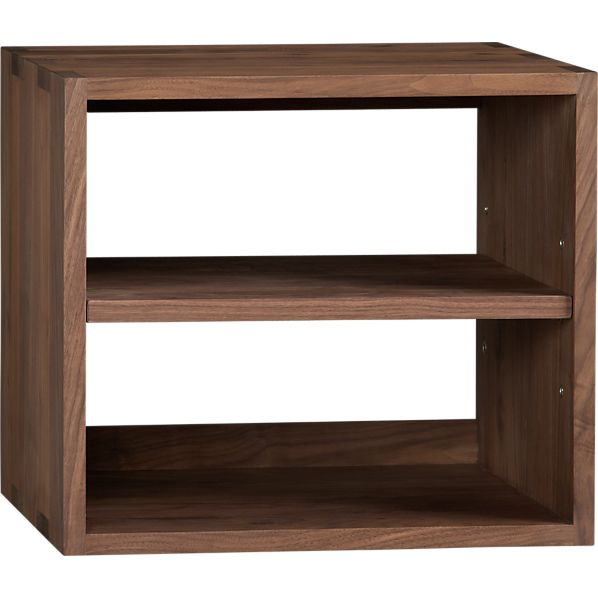 Sentry Walnut Wall Box with Shelf