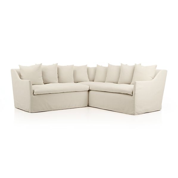 """Serene Slipcovered 2-Piece 98"""" Sectional"""