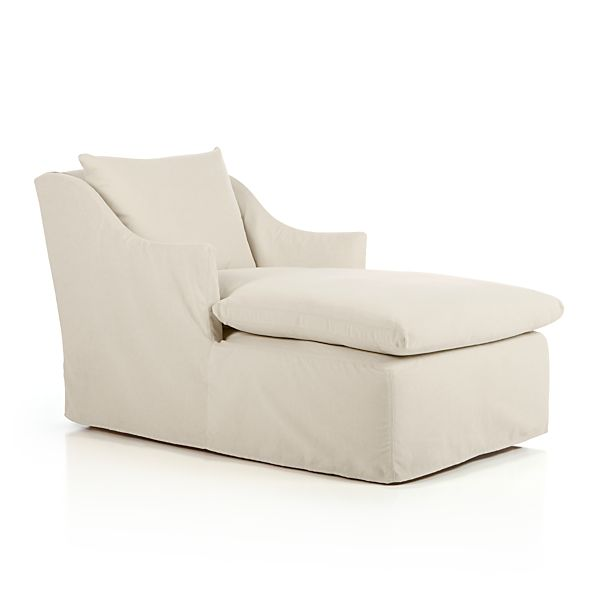Serene Slipcovered Chaise