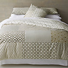 Sereno Neutral Hand-Blocked King Duvet Cover.