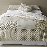 Sereno Hand-Blocked Full-Queen Duvet Cover