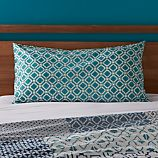 Sereno Blue Hand-Blocked King Sham