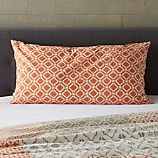 Sereno Coral Hand-Blocked King Sham