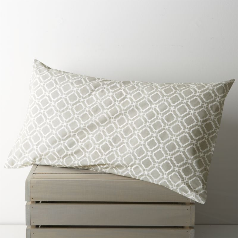 "An exquisite balance of graphic motifs is hand block-printed in a rich geometric ""patchwork"" of soft, sophisticated neutrals. This early form of textile printing is considered one of the most artistic and time-consuming methods.<br />Bed pillows also available.<br /><br /><NEWTAG/><ul><li>100% cotton</li><li>Hand block-printed</li><li>Machine wash, tumble dry low</li><li>Made in India</li></ul>"