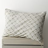 Sereno Neutral Hand-Blocked Standard Sham