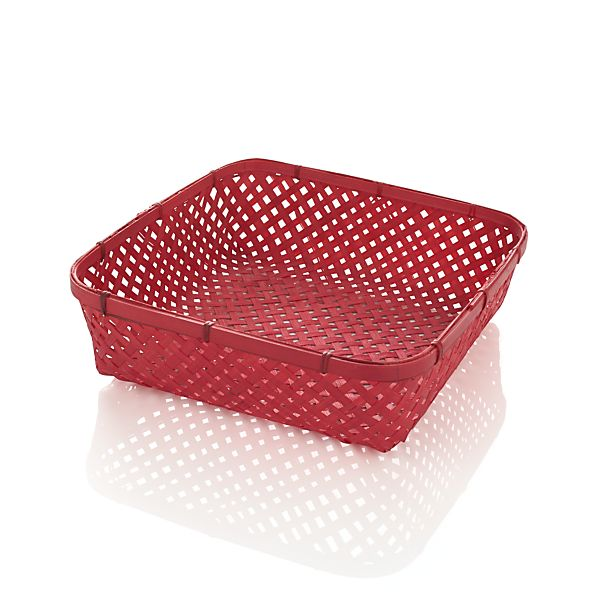 Small Red Serving Basket