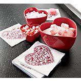 Heart Bowls Set of Three