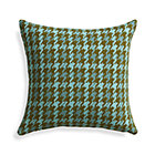 Seville Aqua Pillow with Feather-Down Insert.