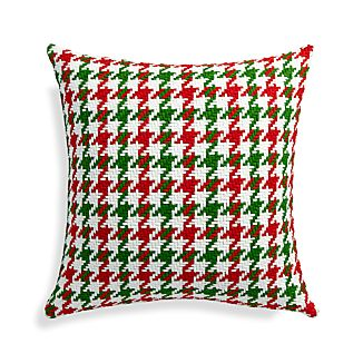 "Seville Holiday 18"" Pillow with Down-Alternative Insert"