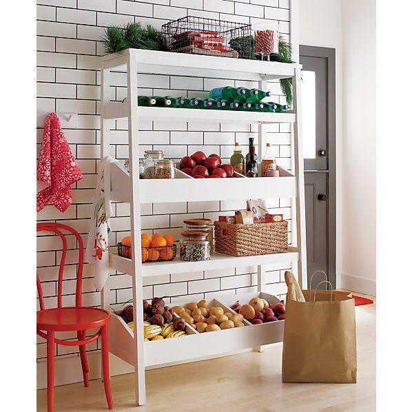 Seville White Open Shelf Unit
