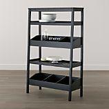 Seville Black Open Shelf Unit