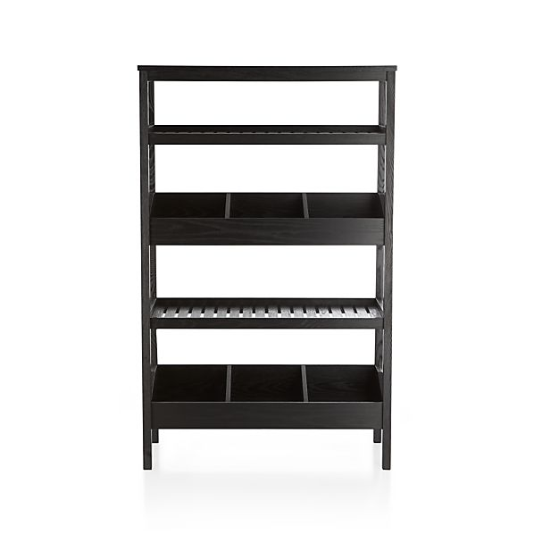 Seville Black Open Shelf Unit