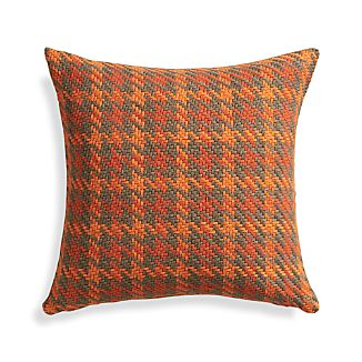 "Seville Orange 18"" Pillow with Feather-Down Insert"