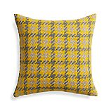 "Seville Yellow 18"" Pillow with Feather-Down Insert"