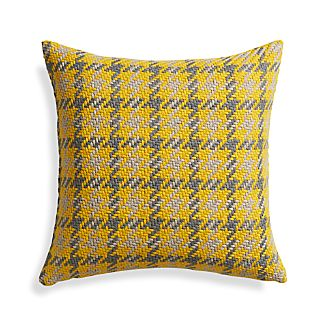 "Seville Yellow 18"" Pillow with Down-Alternative Insert"