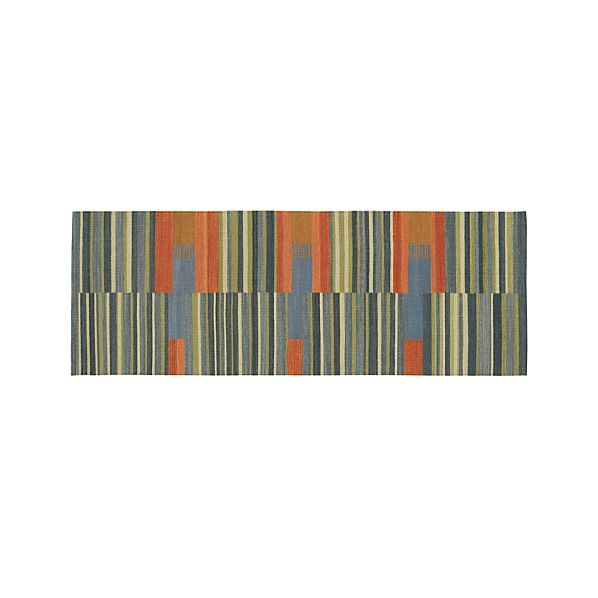 Sharif Striped Wool 2.5'x7' Rug Runner