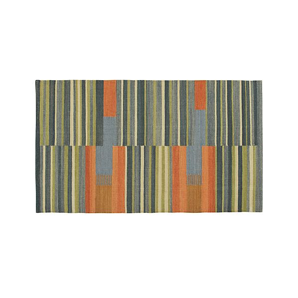 Sharif Striped Wool 3'x5' Rug