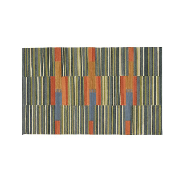 Sharif Striped Wool 5'x8' Rug