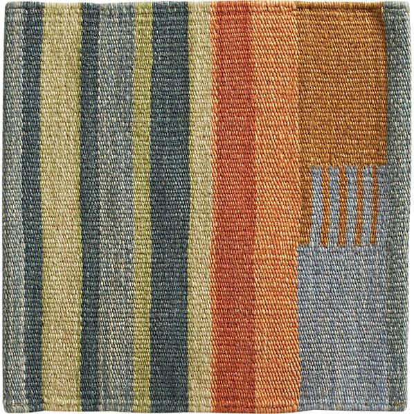 "Sharif Striped Wool 12"" sq. Rug Swatch"