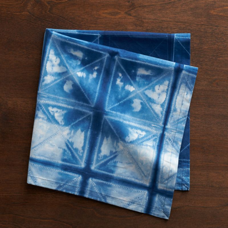 A traditional Japanese technique of stitching and hand dyeing creates a distinctive modern look with an artful effect unique to each textile. Color ranges will vary from piece to piece, and soften over time with use and washing.<br /><br /><NEWTAG/><ul><li>100% cotton</li><li>Hand dyed</li><li>Do not dry clean or bleach</li><li>Wash before first use</li><li>Machine wash cold, tumble dry; warm iron as needed</li><li>Made in India</li></ul>