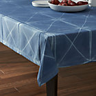 "Shibori 60""x120"" Blue Tablecloth."
