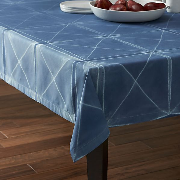"Shibori Blue 60""x90"" Tablecloth"