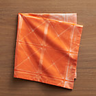 Shibori Orange Napkin.