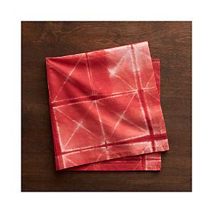 Shibori Red Napkin