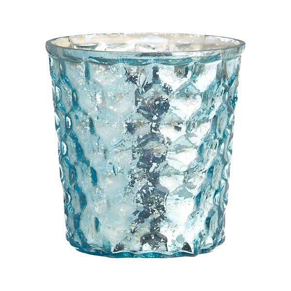 Shiny Aqua Candleholder