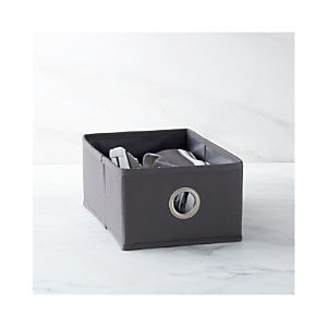 Grey Shoe Bag Drawer