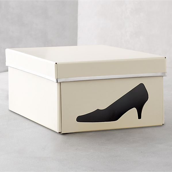 Bigso® Ivory Shoe Box with Icon