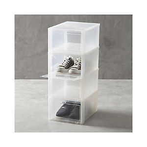 Large Clear Shoe Boxes Set of Four