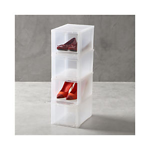 Small Clear Shoe Boxes Set of Four