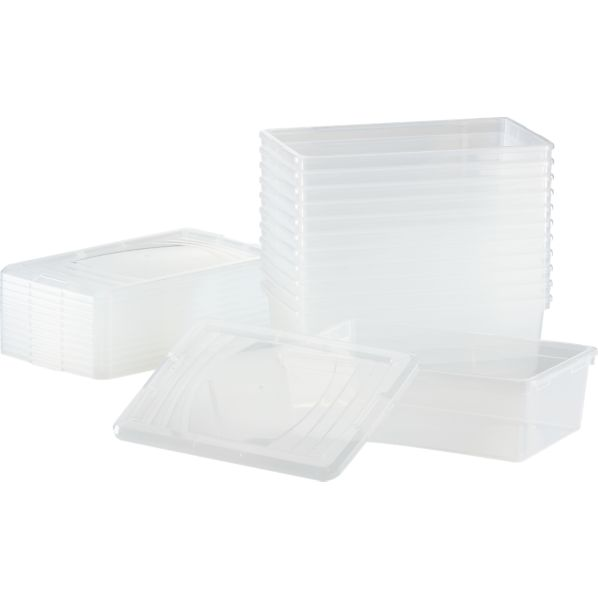 Set of 12 Shoe Boxes with Lids