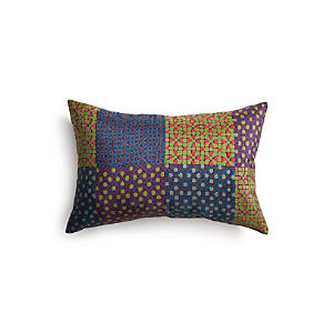 "Shoni 18""x12"" Pillow with Feather-Down Insert"